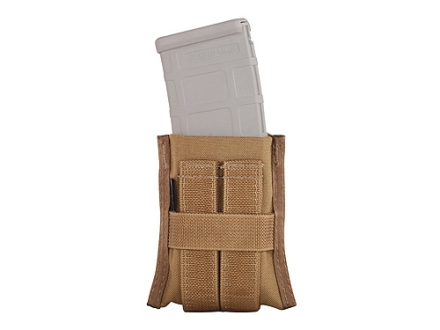 Tuff Products G.A.G Grab and Go Single AR-15 Magazine Pouch Belt or M.O.L.L.E. Nylon Coyote Brown