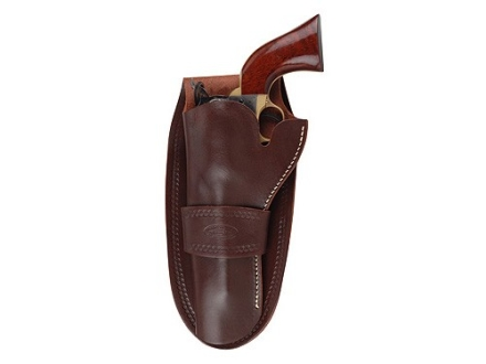 "Hunter 1082 Single Loop Holster Left Hand Colt Single Action Army, Ruger Blackhawk, Vaquero 4-.75"" to 5.5"" Barrel Leather Antique Brown"
