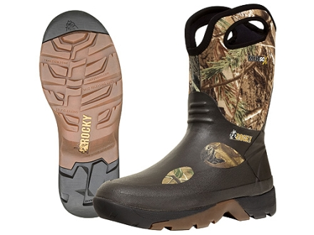 "Rocky MudSox 10"" Waterproof Hunting Boots Rubber and Neoprene"