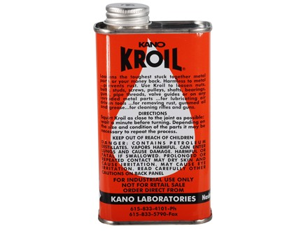 Kano Kroil Penetrating Oil and Bore Cleaning Solvent 8 oz Liquid