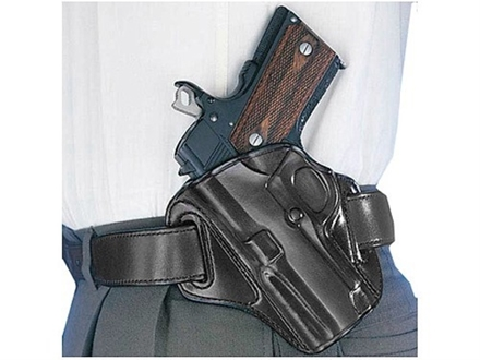 Galco Concealable Belt Holster Left Hand 1911 Commander Leather Black