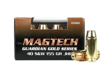 Magtech Guardian Gold Ammunition 40 S&amp;W 155 Grain Jacketed Hollow Point Box of 20