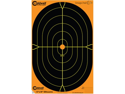 Caldwell Orange Peel Target 12&quot;x18&quot; Self-Adhesive Silhouette
