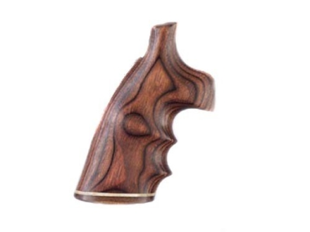 Hogue Fancy Hardwood Grips with Accent Stripe, Finger Grooves and Contrasting Butt Cap Colt Trooper Mark III Rosewood Laminate