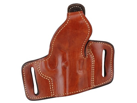 Ross Leather Belt Slide Holster with Thumbsnap Right Hand 1911 Leather Tan