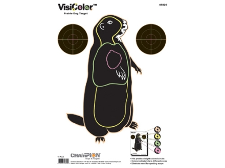 "Champion VisiColor Prairie Dog Target 11"" x 16"" Paper Package of 10"