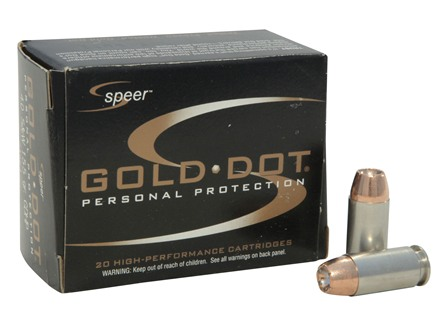 Speer Gold Dot Ammunition 40 S&amp;W 155 Grain Jacketed Hollow Point Box of 20