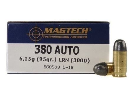 Magtech Sport Ammunition 380 ACP 95 Grain Lead Round Nose Box of 50
