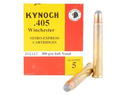 Kynoch Ammunition 405 Winchester 300 Grain Woodleigh Weldcore Soft Point Box of 5