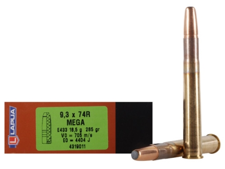 Lapua Mega Ammunition 9.3x74mm Rimmed 285 Grain Soft Point Box of 10