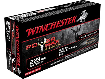 Winchester Super-X Power Max Bonded Ammunition 223 Remington 64 Grain Protected Hollow Point Box of 20