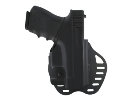 Hogue PowerSpeed Concealed Carry Holster Outside the Waistband (OWB) Right Hand Glock 26, 27, 33, 37 Polymer Black