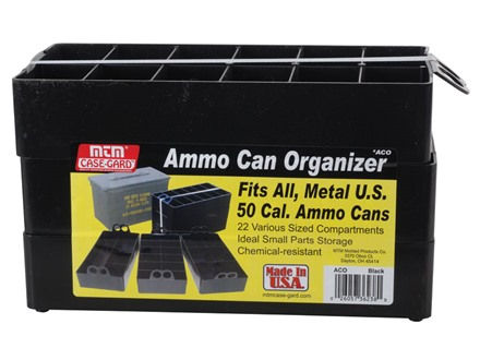MTM Ammunition Can Organizer Plastic Black Package of 3