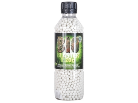 Blaster Bio Airsoft BBs 6mm .20 Gram White Bottle of 3000