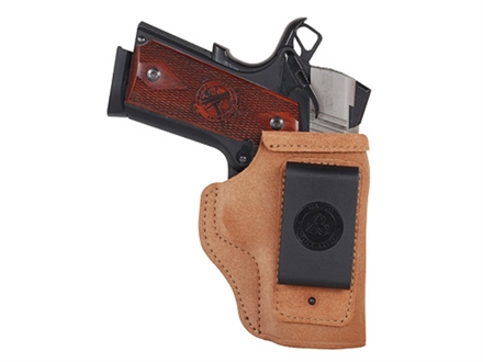 Galco Stow-N-Go Inside the Waistband Holster Right Hand S&W M&P Compact 9mm Luger, 40 S&W Leather Brown