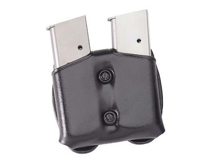 Galco COP Double Magazine Pouch 40 S&W, 9mm Double Stack Polymer Magazines Leather Black