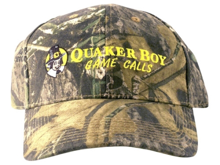 Quaker Boy Logo Cap Cotton Mossy Oak Obsession Camo