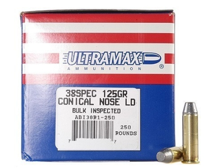 Ultramax Remanufactured Ammunition 38 Special 125 Grain Lead Conical Nose