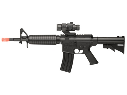 Crosman Airsoft Pulse R73 6mm Airsoft Rifle With Optic Electic Select Fire Polymer Stock Black