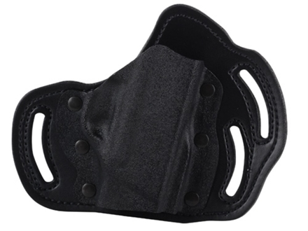 DeSantis Intimidator Outside the Waistband Holster Right Hand Smith & Wesson Bodyguard 380 Kydex and Leather Black