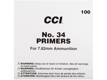 CCI 7.62mm NATO-Spec Military Primers #34