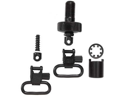"Uncle Mike's Quick Detachable Sling Swivel Cap Set Mossberg 500 12 Gauge 1"" Black"