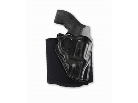 Galco Ankle Glove Holster Right Hand S&W 442, 649 Bodyguard, 340 PD Leather with Neoprene Leg Band Black