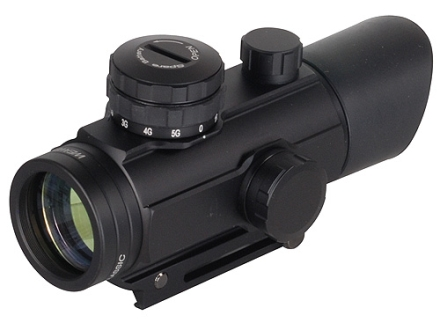 Weaver Red Dot Sight 30mm Tube 1x Red and Green 4-Pattern Reticle (Micro Dot, Dot, Circle, Circle with Dot) with Integral Weaver-Style Base Matte