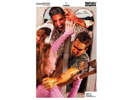 Champion Zombie Hatchet Help Target 24&quot; x 45&quot; Paper Package of 10