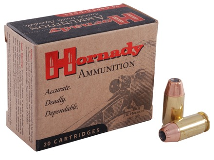 Hornady Custom Ammunition 45 ACP +P 230 Grain XTP Jacketed Hollow Point Box of 20