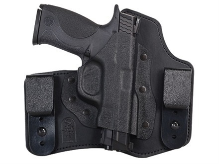 DeSantis Intruder Inside the Waistband Holster Right Hand S&amp;W M&amp;P 9mm Luger, 40 S&amp;W Kydex and Leather Black