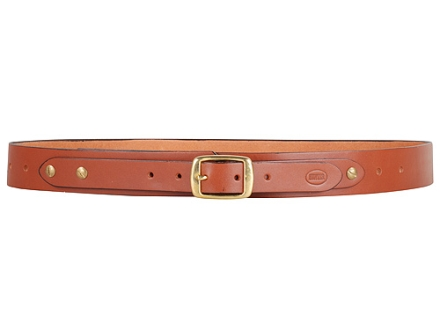 "Hunter 3458-3 Adjustable Holster Belt 1.5"" Brass Buckle Leather Tan 34"" to 56"""