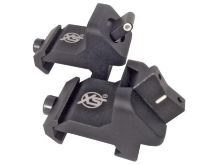 XS Sights Xpress Threat Interdiction Sight Set AR-15 Steel Matte Tritium Standard Dot Front, White Stripe Rear