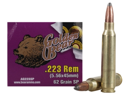 Golden Bear Ammunition 223 Remington 62 Grain Soft Point (Bi-Metal) Box of 20
