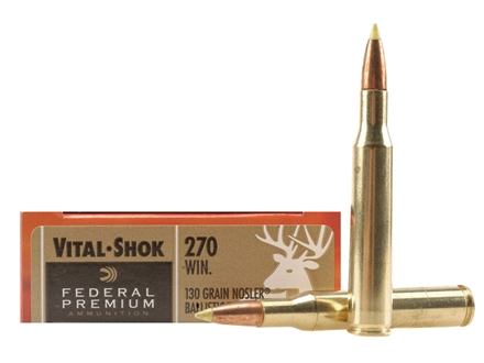 Federal Premium Vital-Shok Ammunition 270 Winchester 130 Grain Nosler Ballistic Tip Box of 20
