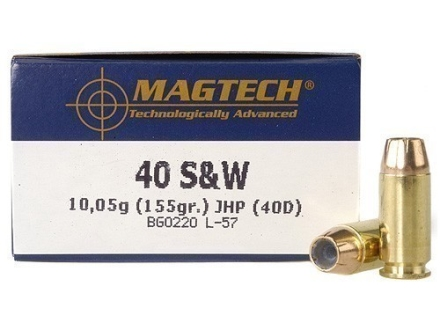 Magtech Sport Ammunition 40 S&amp;W 155 Grain Jacketed Hollow Point Box of 50