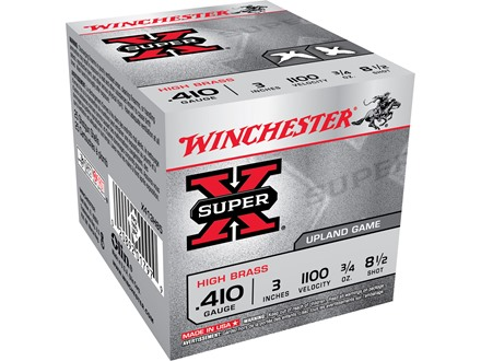 "Winchester Super-X High Brass Ammunition 410 Bore 3"" 3/4 oz of 8-1/2 Shot Box of 25"