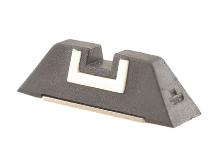 "Glock Square Rear Sight 6.9mm .271"" Height Polymer Black White Outline"
