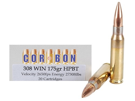 Cor-Bon Performance Match Ammunition 308 Winchester 175 Grain Sierra Hollow Point Boat Tail Box of 20