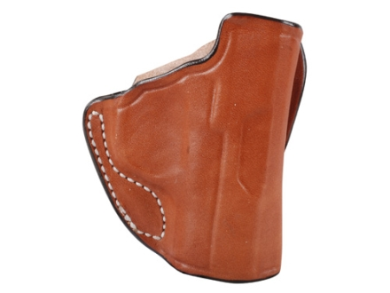 DeSantis Mini Scabbard Outside the Waistband Holster Right Hand Kimber Solo Leather Tan