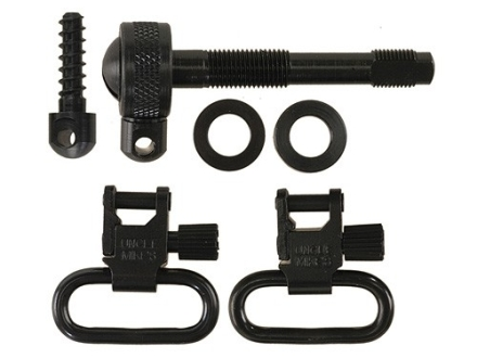 Uncle Mike&#39;s Quick Detachable Sling Swivel Set Remington 742 Standard, ADL 1&quot; Black