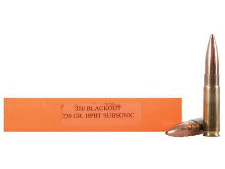 HSM Ammunition 300 AAC Blackout 220 Grain Sierra MatchKing Hollow Point Boat Tail Subsonic Box of 20