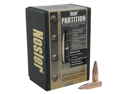 Nosler Partition Bullets 284 Caliber, 7mm (284 Diameter) 150 Grain Spitzer Box of 50