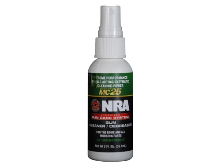 NRA Licensed Gun Care System By Mil-Comm MC25 Gun Cleaner Degreaser Bore Cleaning Solvent 2 oz Spray Bottle