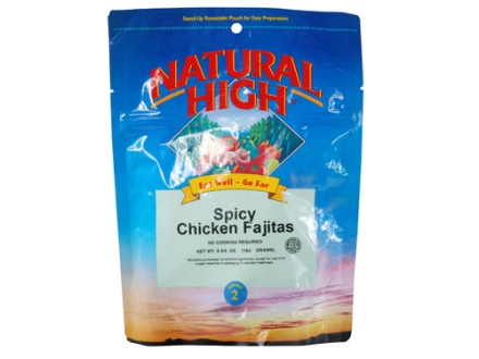 Natural High Chicken Fajitas Freeze Dried Meal 5.25 oz