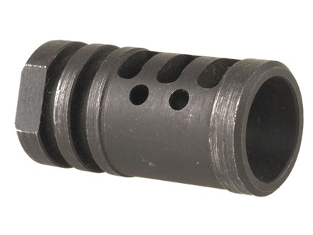 "DPMS Muzzle Brake Panther with Three Slots, 4 Holes 1/2""-28 Thread AR-15 Steel Matte"