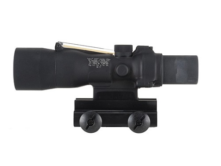 Trijicon ACOG TA33 BAC Rifle Scope 3x 30mm Dual-Illuminated Amber Chevron 308 Winchester Reticle with TA60 Flattop Mount Matte