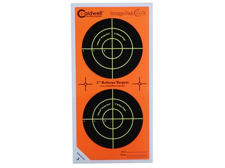 Caldwell Orange Peel Target 3&quot; Self-Adhesive Bullseye (2 Bulls Per Sheet) Package of 75