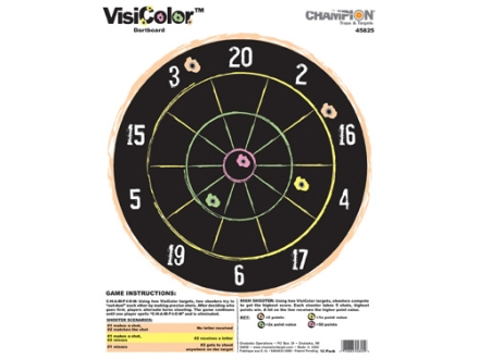 "Champion VisiColor Dartboard Target 11"" x 14"" Paper Package of 10"