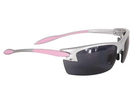 Radians Women's Shooting Glasses Silver and Pink Frame